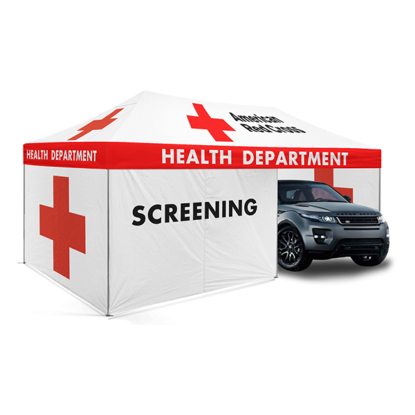 10x20 Enclosed Drive-Thru Screening Tent