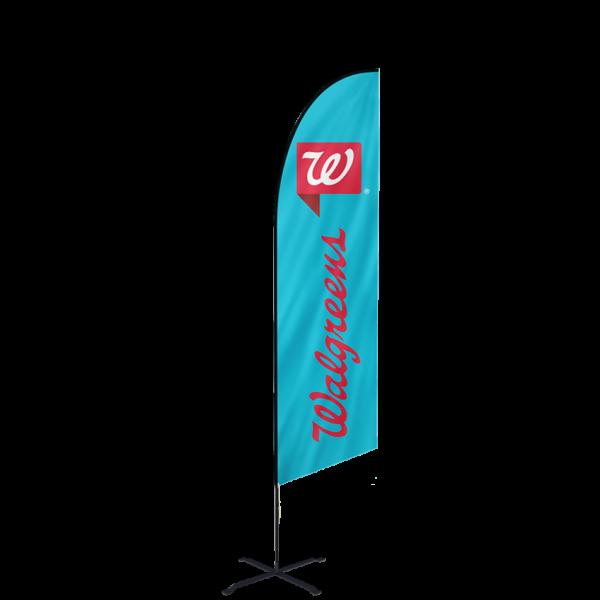 12ft Custom Angled Flags (Large)