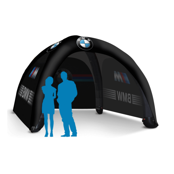 branded inflatable tent