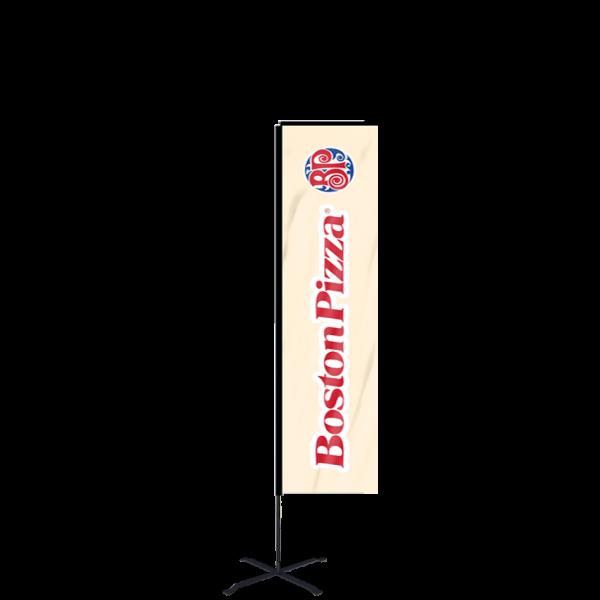 9ft Custom Banner Flag With Ground Spike (Medium)