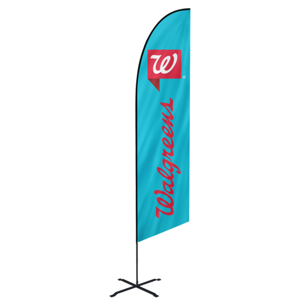 15ft Custom Angled Flags (Extra Large)