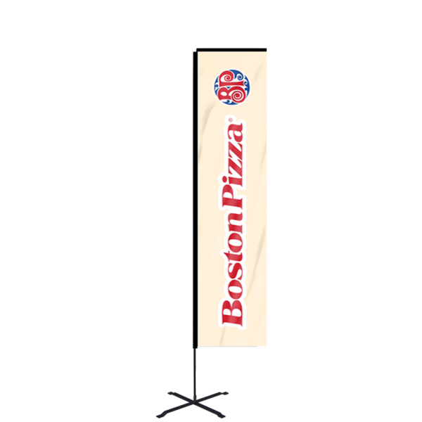 12ft Custom Banner Flag With Ground Spike (Large)
