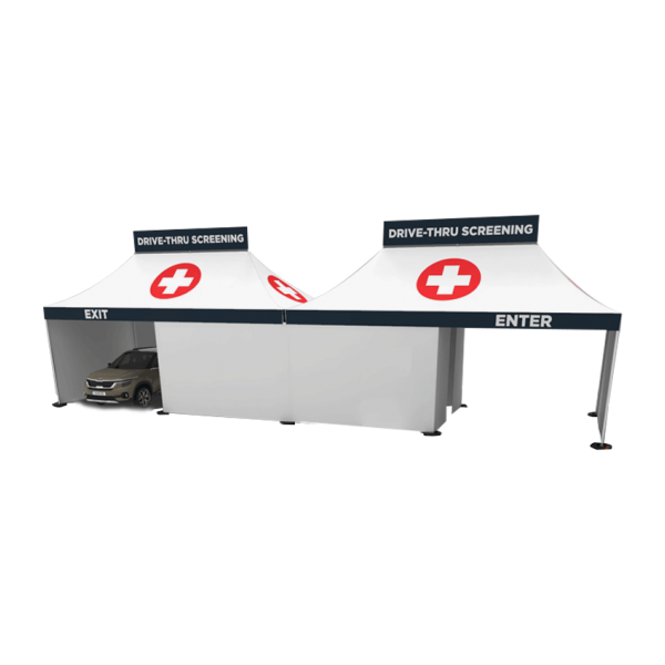 2-Way Drive-Thru Screening Tents