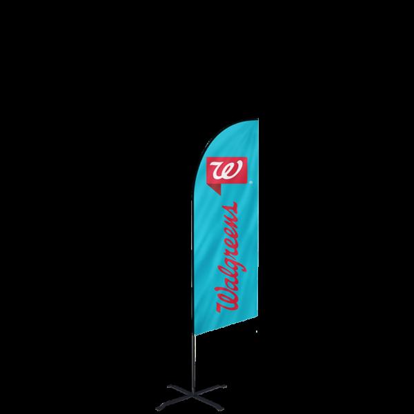 6ft Custom Angled Flags (Small)