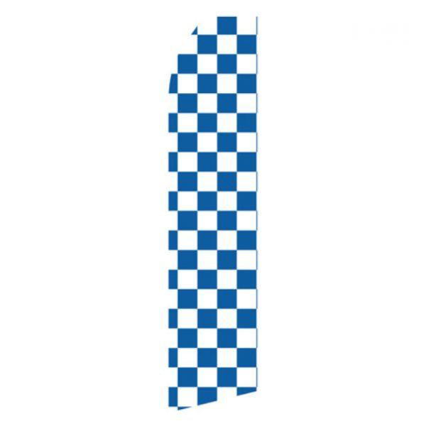Blue and White Checkered Econo Stock Flag