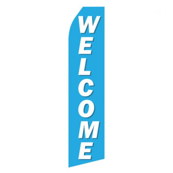 Blue Welcome Econo Stock Flag