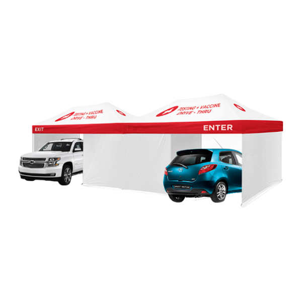 Drive-Thru Medical Tent - (2 of 10x20)