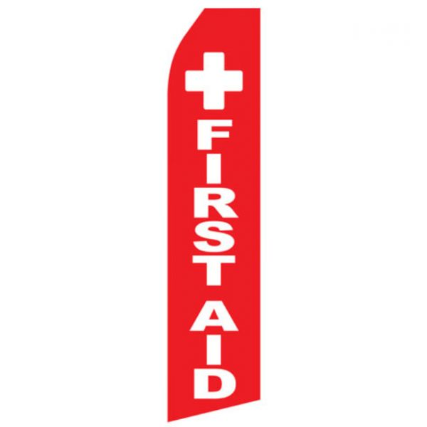 First Aid Econo Stock Flag
