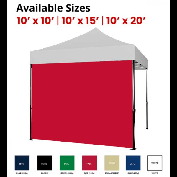 Solid Color Tent Full Walls