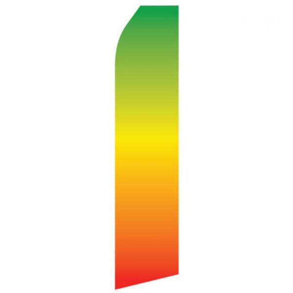 Green Orange Gradient Econo Stock Flag
