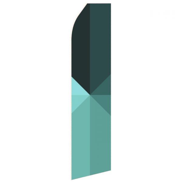 Green Shaded Econo Stock Flag