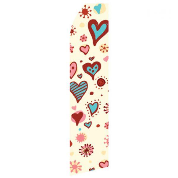 Heart Design Econo Stock Flag