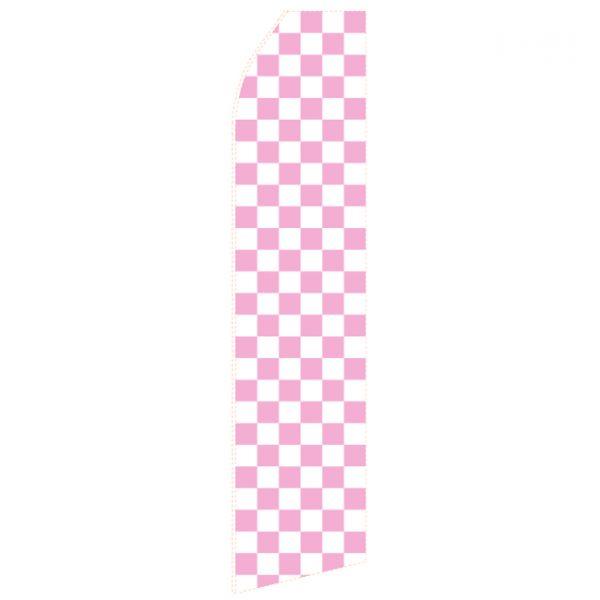Light Magenta Chessboard Econo Stock Flag