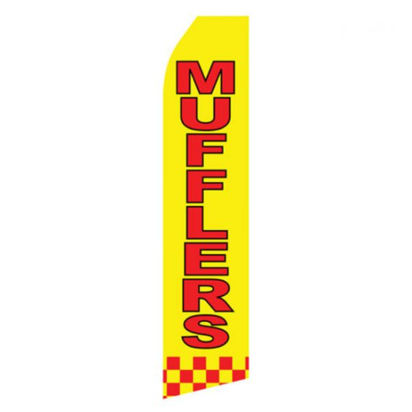 Mufflers Service Feather Flag