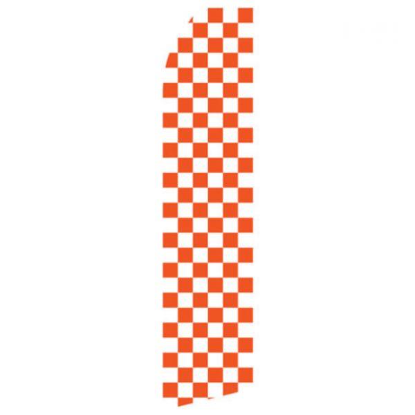 Orange Checkered Econo Stock Flag