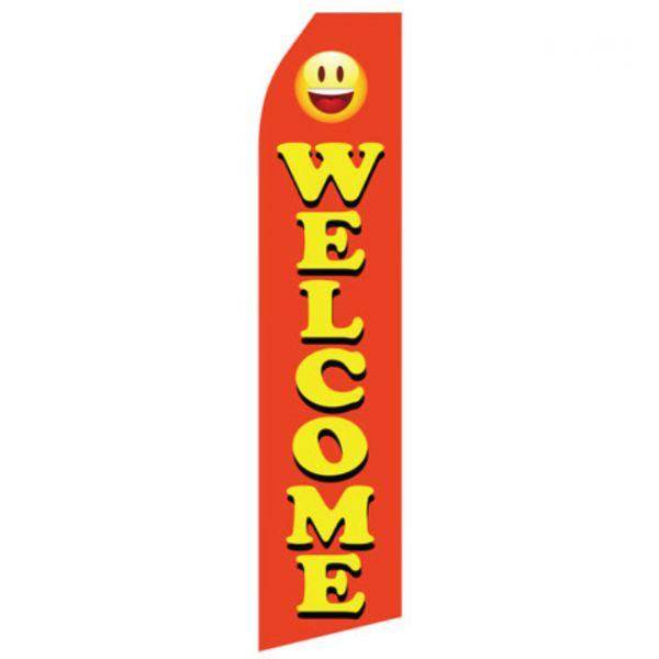 Orange Welcome Econo Stock Flag