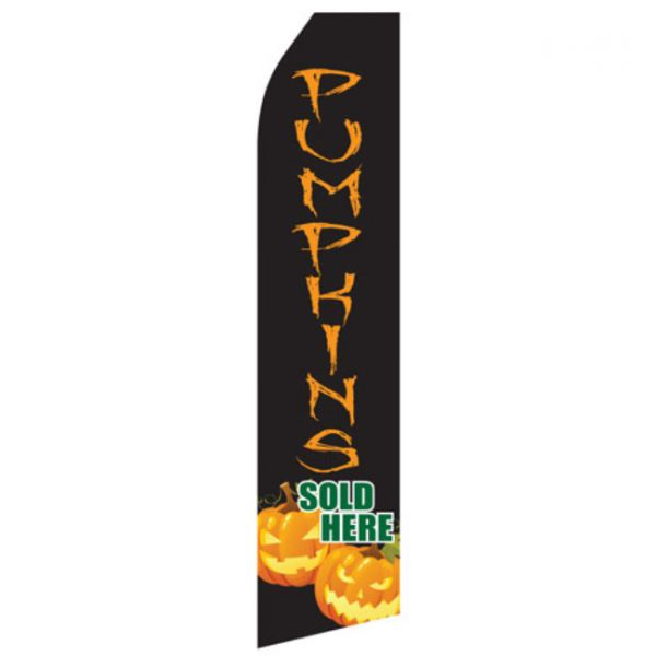 Pumpkins Sold Here Econo Stock Flag