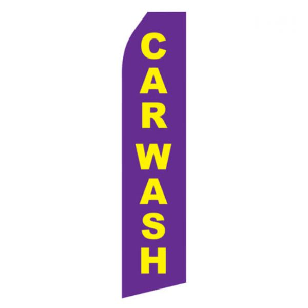 Purple Car Wash Econo Stock Flag