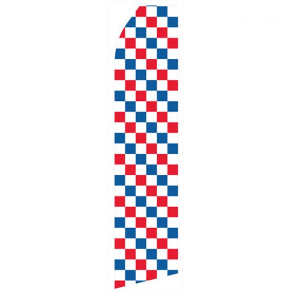 Red, Blue, and White Checkered Econo Stock Flag