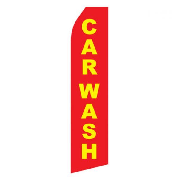 Red Car Wash Econo Stock Flag