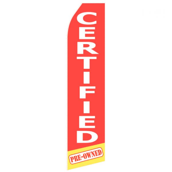 Red Certified Econo Stock Flag