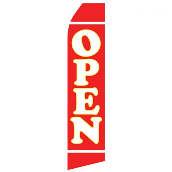 Red Open Econo Stock Flag