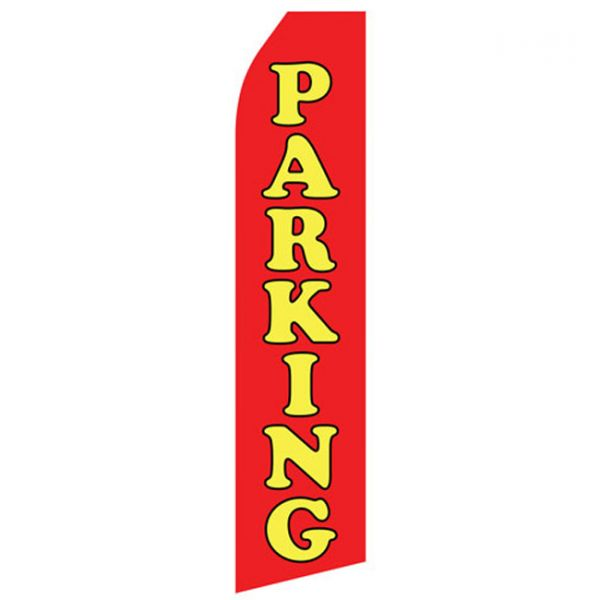 Red Parking Econo Stock Flag