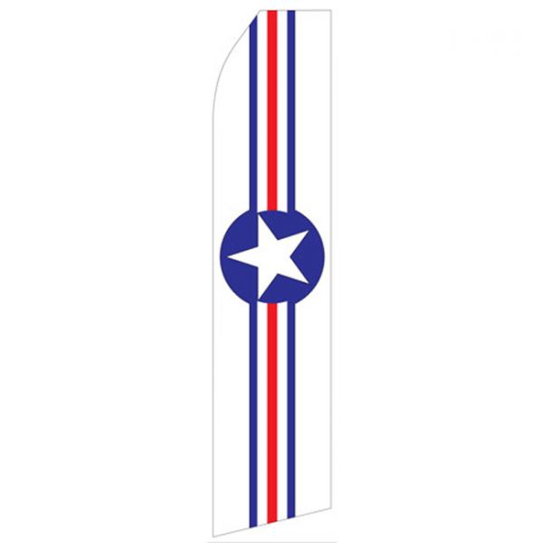Red White and Red Star Econo Stock Flag