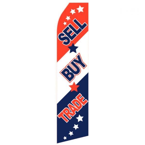 Sell Buy Trade Econo Stock Flag