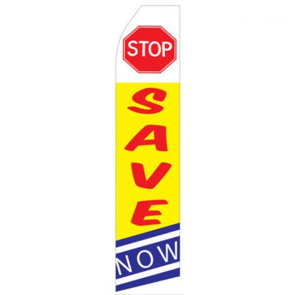 Stop Save Now Econo Stock Flag