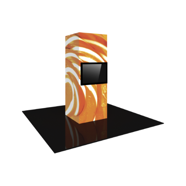 3'X8' - Modular Backlit Monitor Tower 01