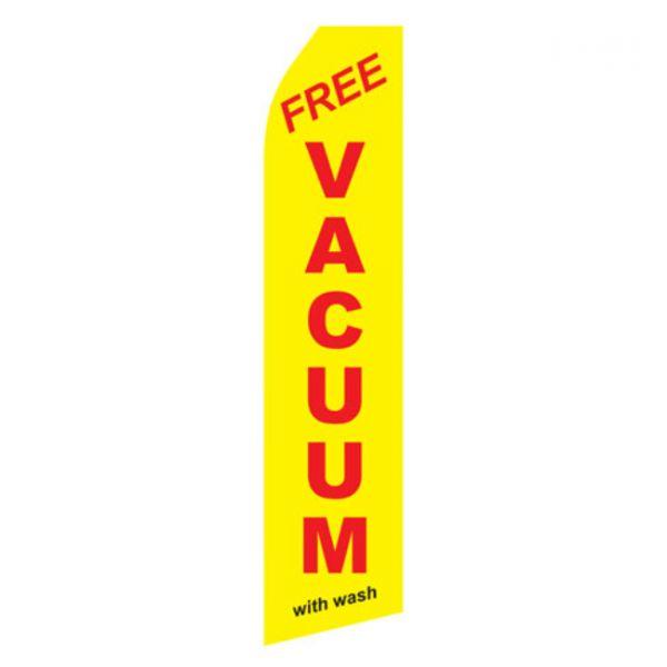 Yellow Free Vacuum With Wash Econo Stock Flag