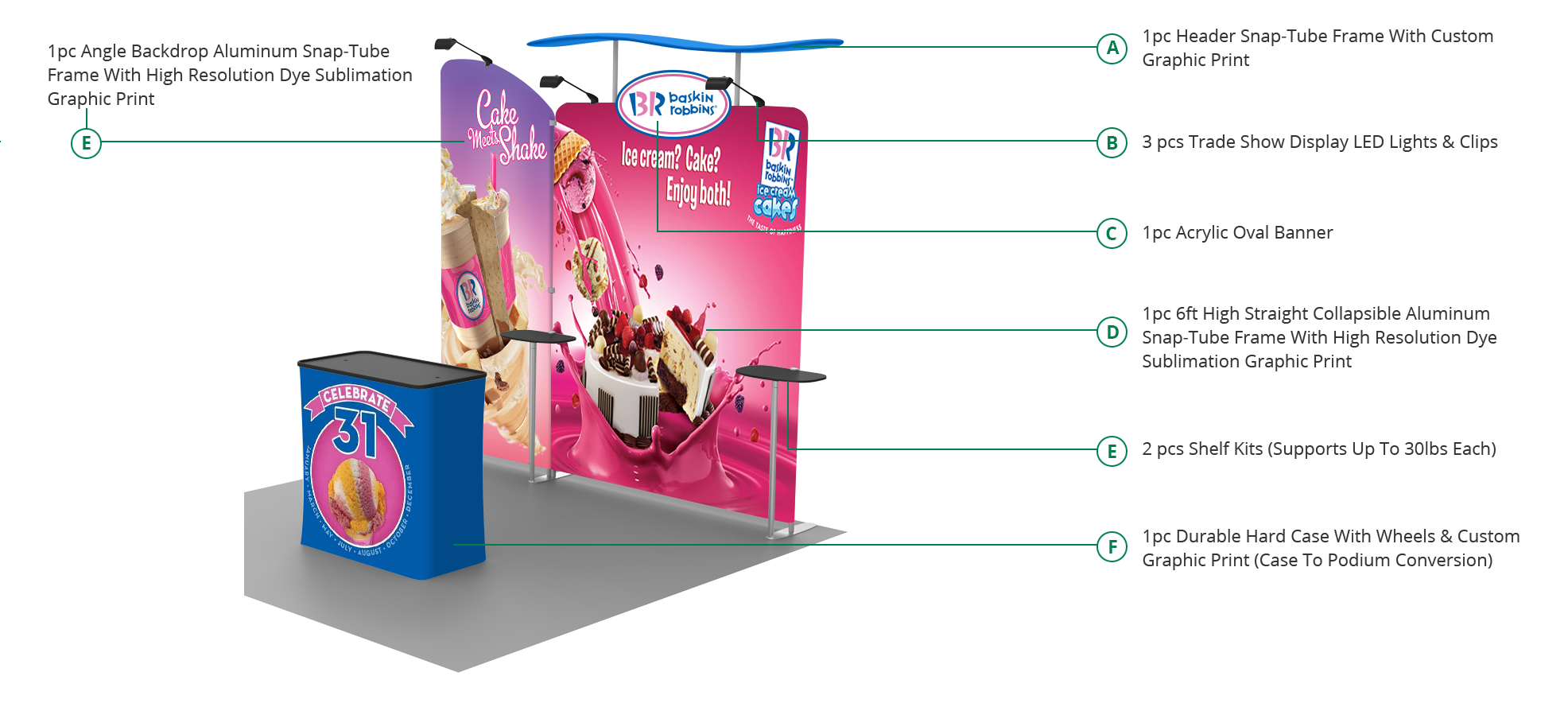Tradeshow booth specifications