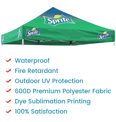 Waterproof, Fire Retardant Canopy Top & Valance