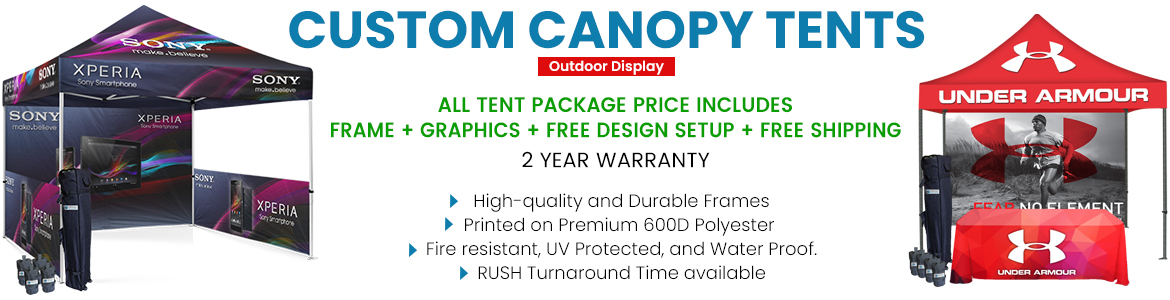10x10 custom canopy deals