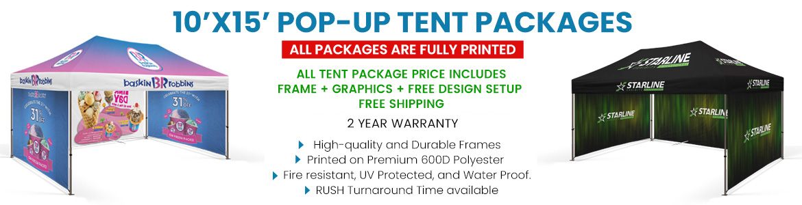 10X15 custom tents Packages