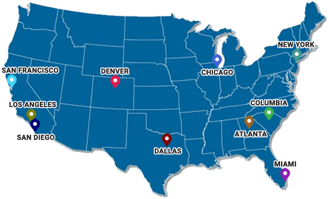 Distribution Centers Across The United States